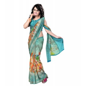 Synthetic Print sarees