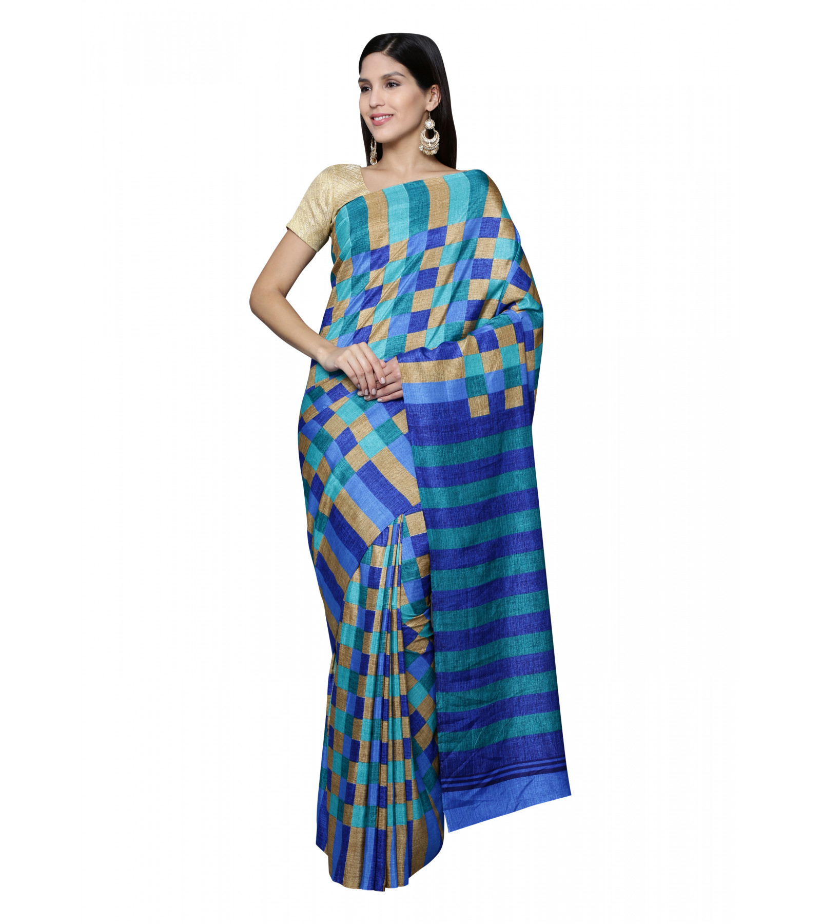 Synthetic Crackle Saree