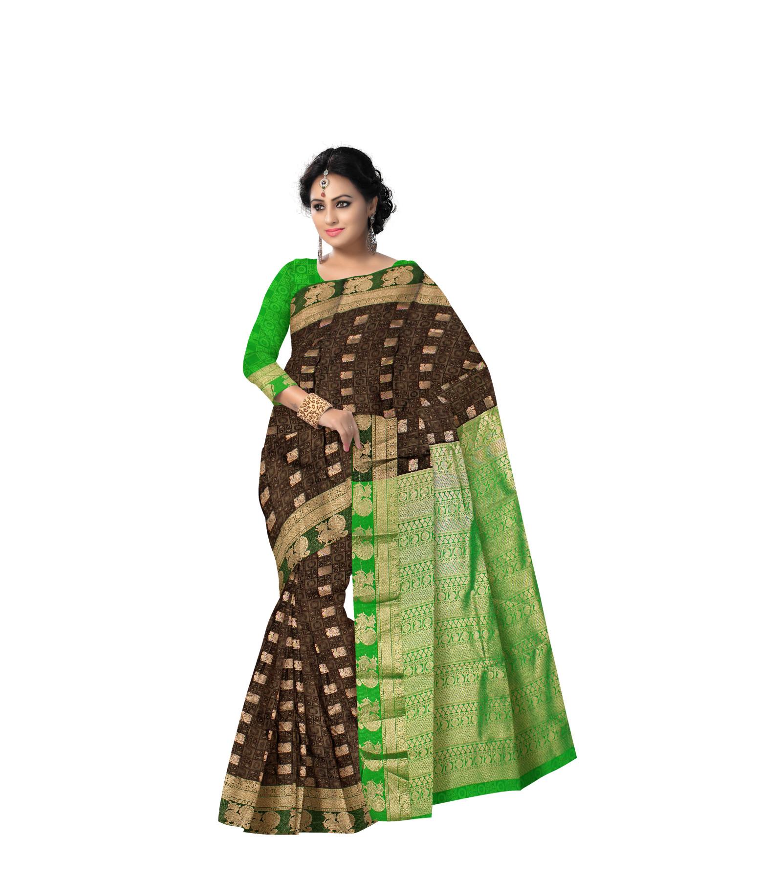 Abaranji Thread Embossed Saree