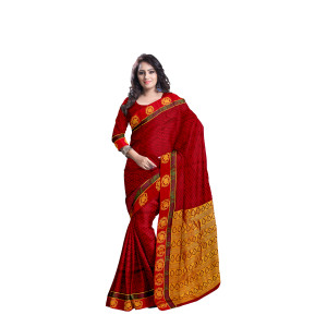 Abaranji Thread Emboss Fancy Saree